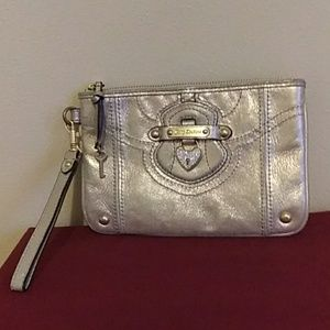 Juicy Couture 100% Leather Gold Wristlet